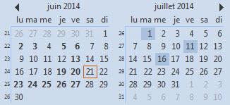 Optimiser l'affiche du calendrier Outlook
