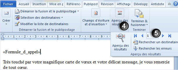4-Emailing excel word outlook apercu résultats_