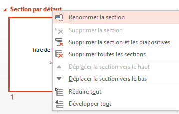 Activ'Assistante PowerPoint sections renommer