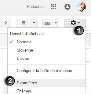 1- activer les paramètres sous gmail