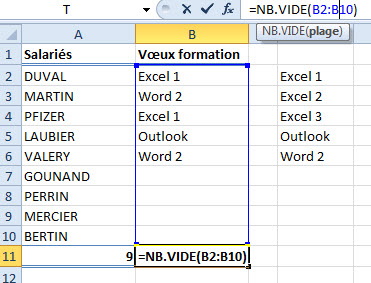 Additionner du vide excel nb vide
