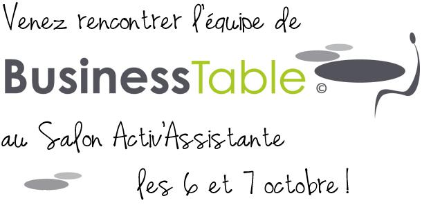 Venez rencontrer BusinessTable au salon ActivAssistante