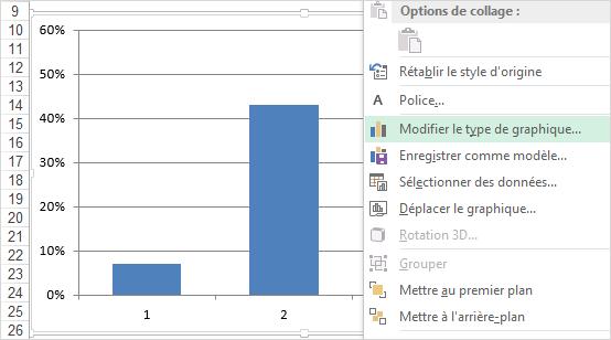 Excel graphique jauge etape 1