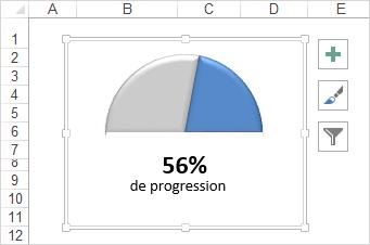 Excel graphique jauge etape 5 masquer le tableau