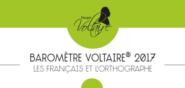 3e barometre projet voltaire orthographe des francais