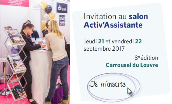 Inscription Salon Activ Assistante 2017_