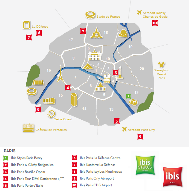 Implantation des hotels ibis paris by activ assistante
