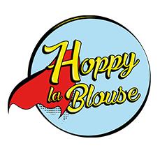 logo hoppy la blouse un cadeau pour la vie