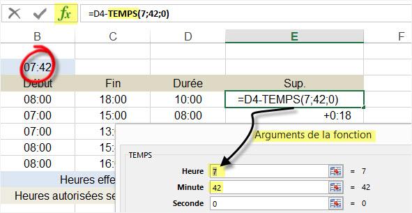 3-Excel calculer differentiel avec fonction temps