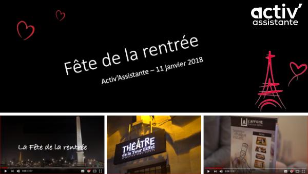 Fete de la rentrée Activ'Assistante Paris 2018