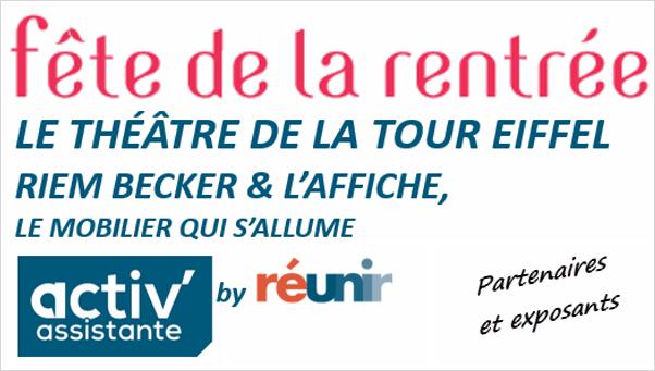 Fete de la rentrée Activ'Assistante Paris janvier 2018 partenaires et exposants