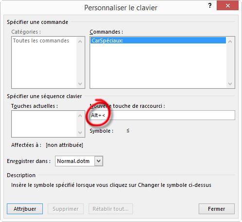 2-Personnaliser le clavier pour afficher un caractere special