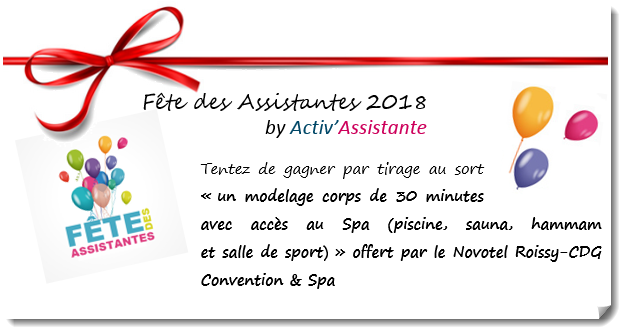 Novotel roissy CDG convention et spa lot offert fete des assistantes